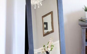 DIY Pottery Barn Inspired Floor Mirror