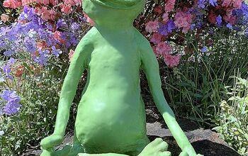 Let's Make a Garden Paper Mache Sitting Frog