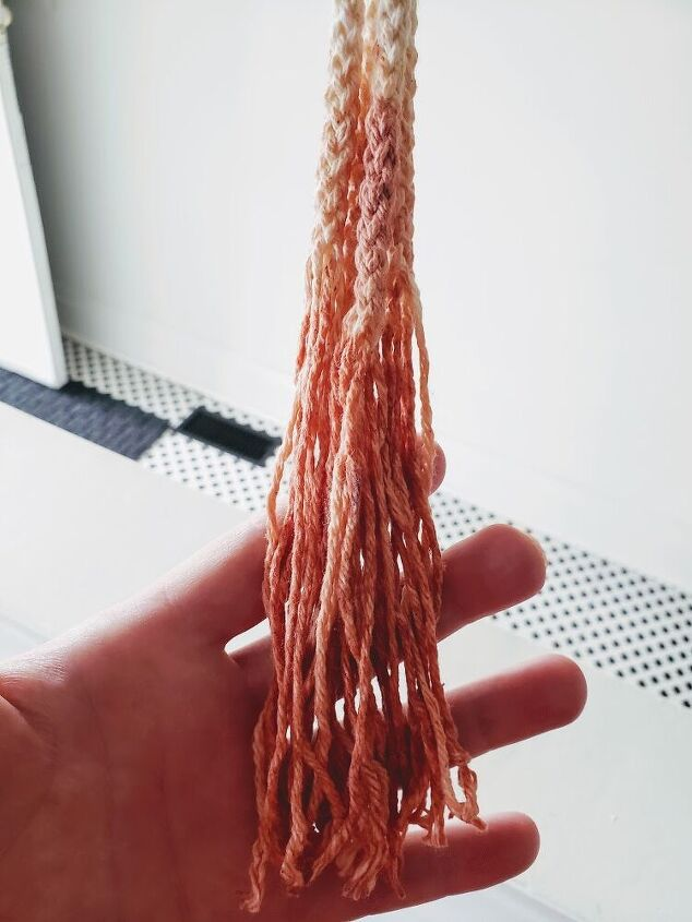 ombr avocado dyed macaram cord