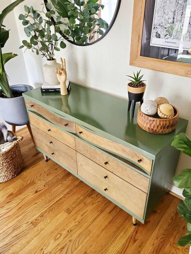 mid century modern dresser upcycled