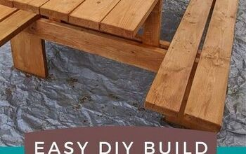 DIY Extra Large Modern Picnic Table