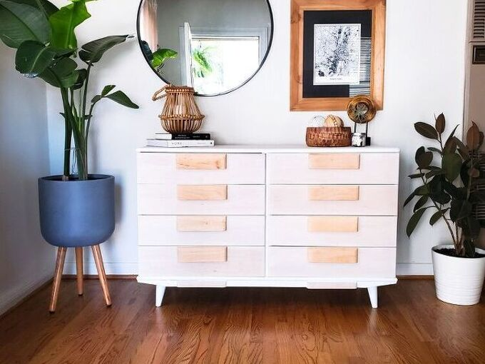 update your dresser by white washing