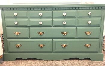 Green With Envy Dresser Makeover