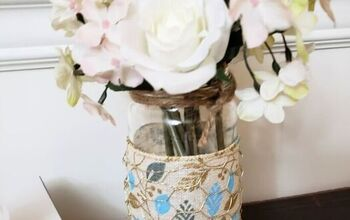 DIY Upcycled Farmhouse Jar Vases
