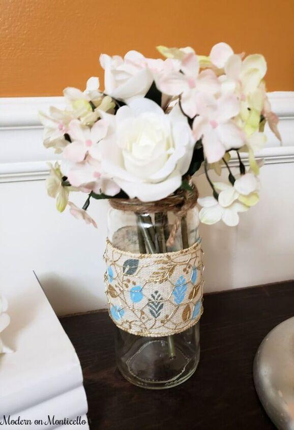 diy upcycled farmhouse jar vases