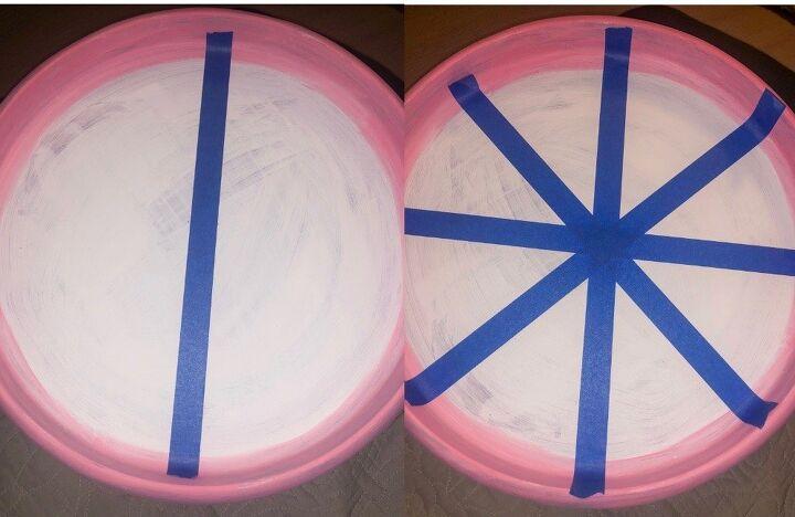 repurposed pink lemon tray