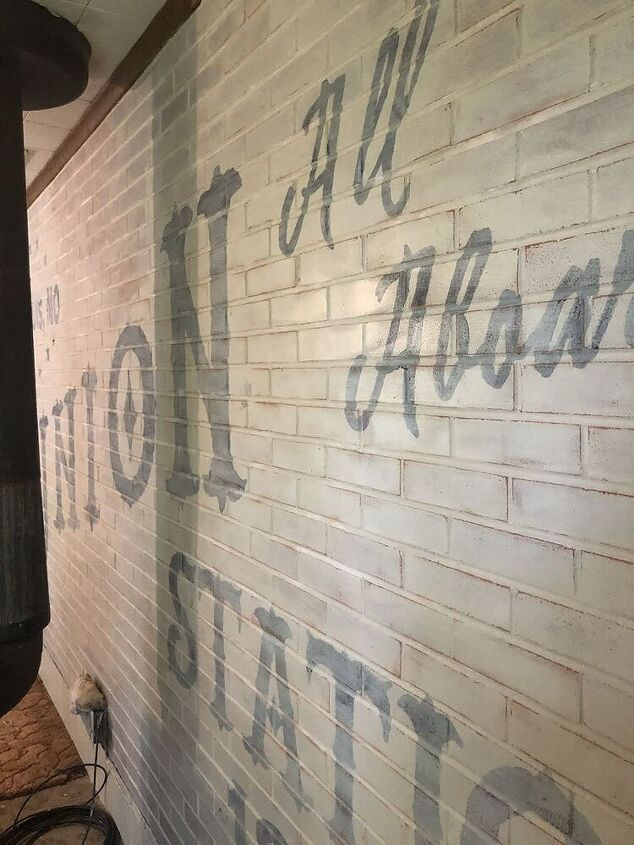 adding character to a family family room brick wall