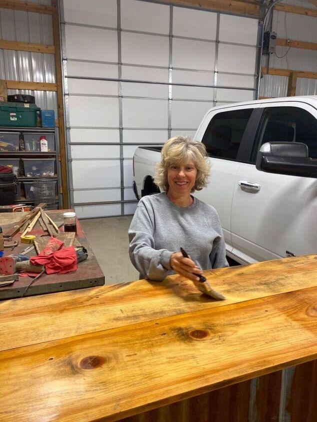 diy weathered barn wood stain