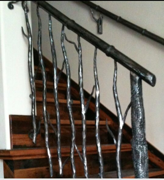 q how can i make metal tree branches for a railing system