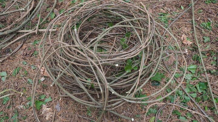 how to make a wild vine round basket from scratch