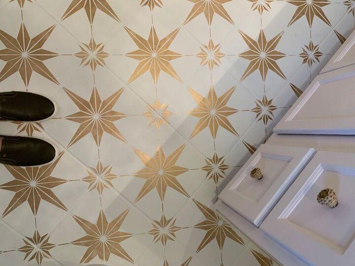 stenciling ceramic tile, Stenciled Tile