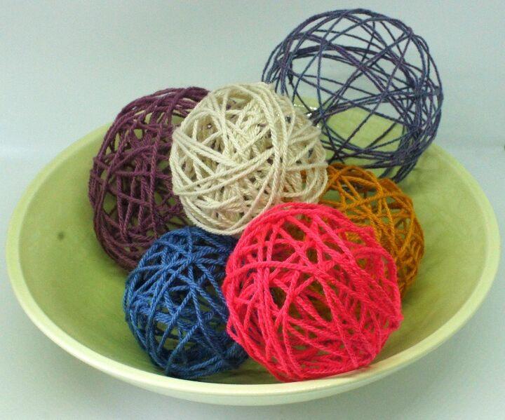 decorative yarn balls how to make them