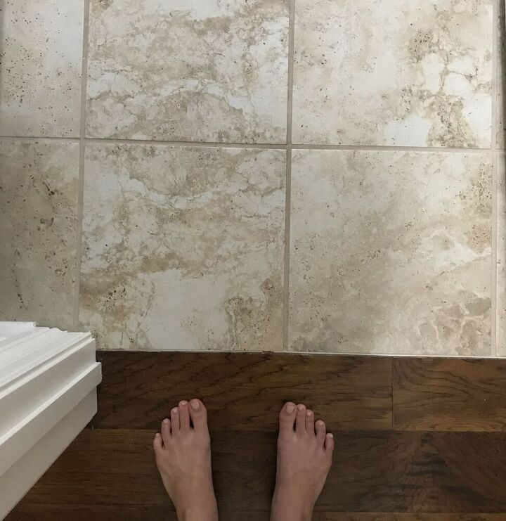how to upgrade your tile floors with a stencil some chalk paint
