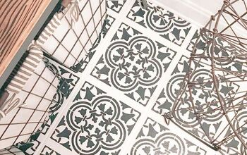 How to Upgrade Your Tile Floors With a Stencil & Some Chalk Paint