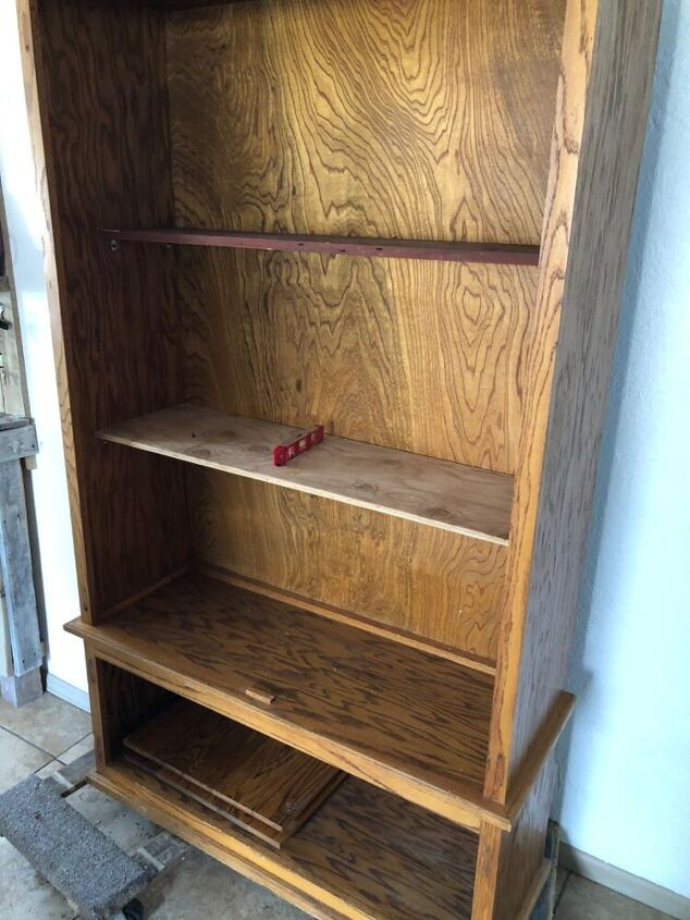 Measured and cut two shelf's