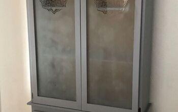 Old Oak Gun Cabinet to Gray  Pantry