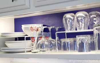 Small Kitchen Ideas:  Open-shelving Quick Makeover