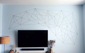 Cheap & Easy DIY How To:  Oversized Wall Sized String Art