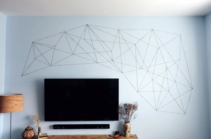 cheap easy diy how to oversized wall sized string art