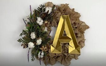 Create a Welcoming Farmhouse Burlap Wreath for Only $10