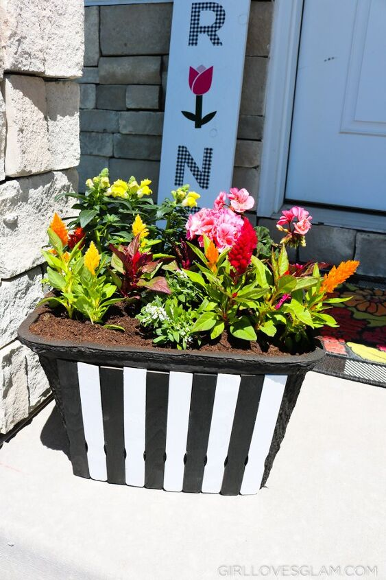 planter box made from a cooler