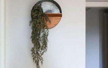 DIY Round Wall Planter