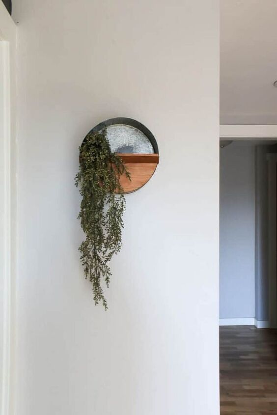 diy round wall planter