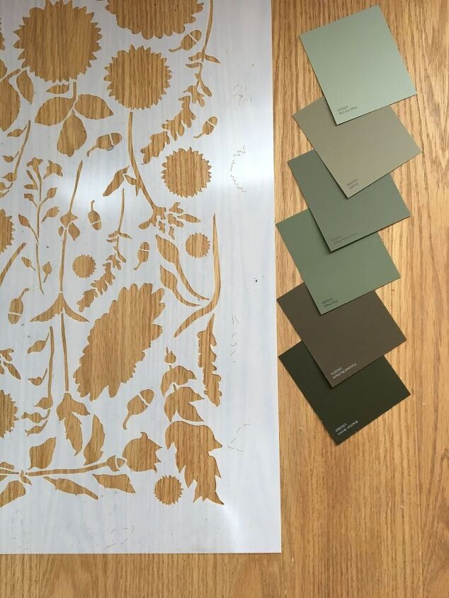 stenciling a wood floor