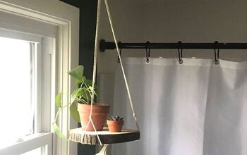 DIY Natural Wood and Macrame Planter