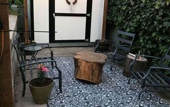 Stenciled Patio