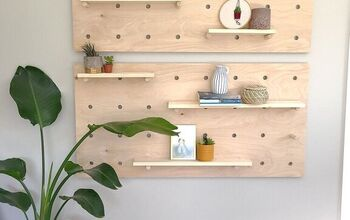 DIY Peg Board Shelf