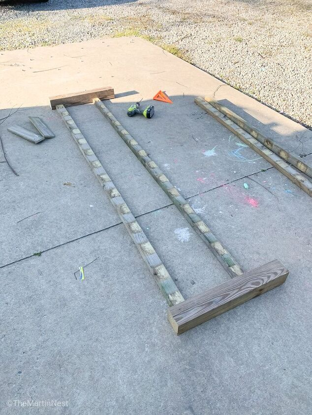 raised bed planter from old picket fence panels