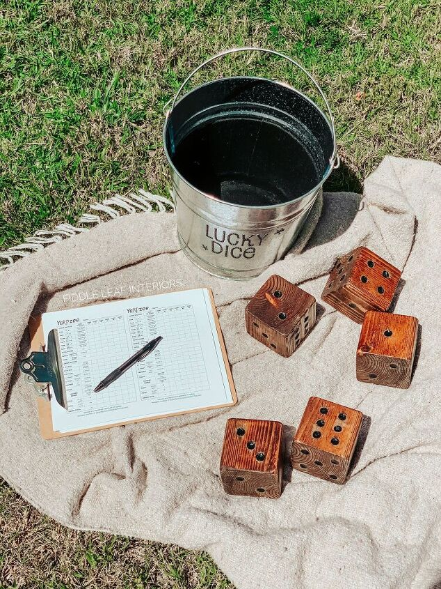 diy giant yard dice