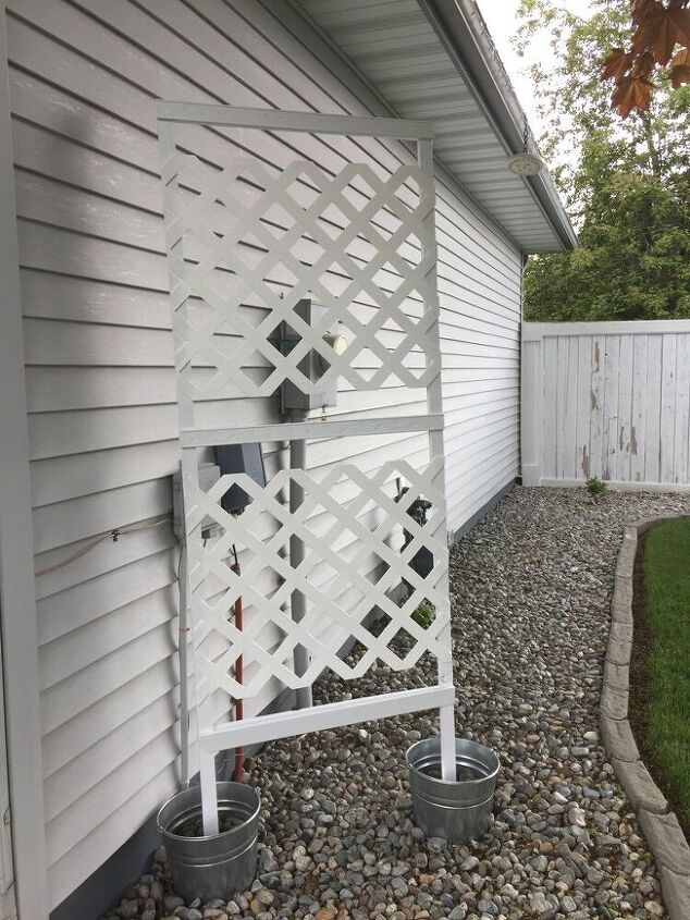 build a privacy screen for your utility boxes