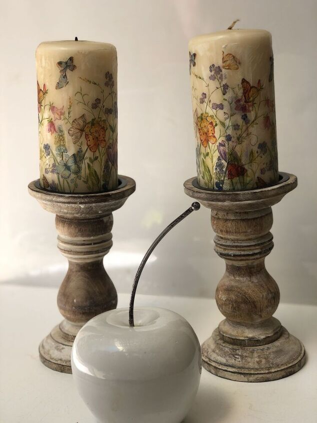 shabby chic wax candle makeover diy