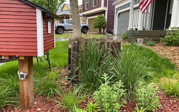 Hiding an Eyesore With Recycled Fence Boards
