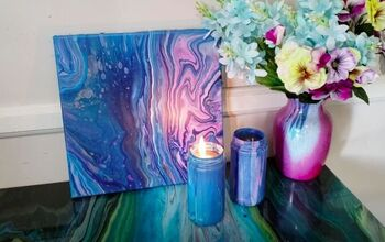 Upcycle Old Jars With This Acrylic Pour Candle Project