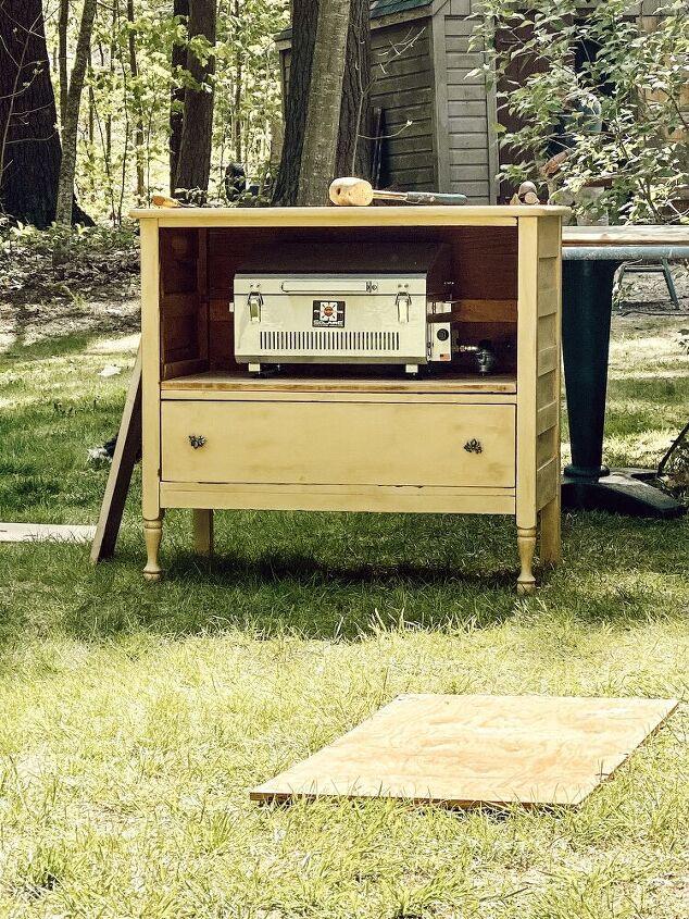outdoor diy grilling station