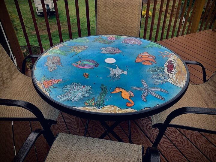 outside table top aquarium no water needed