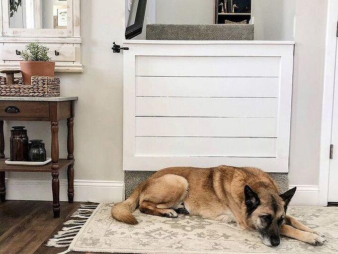 shiplap dog baby gate