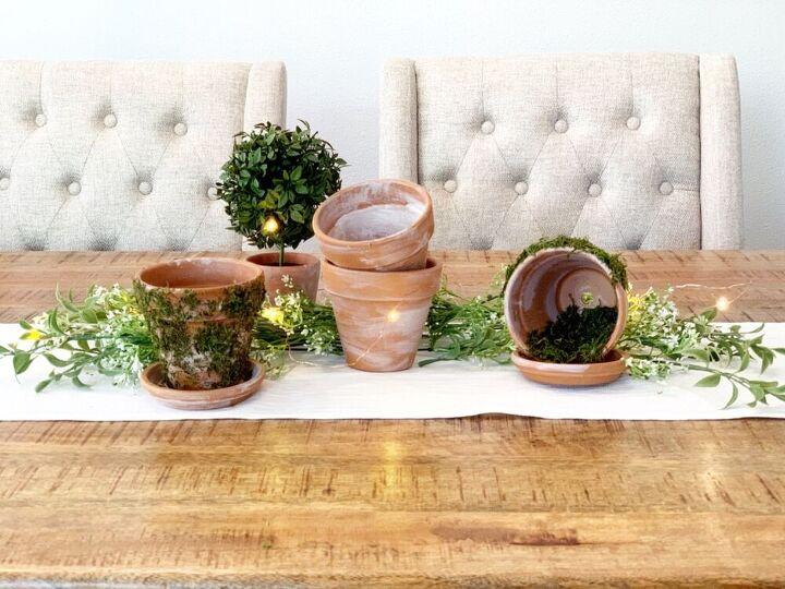 terra cotta pot centerpiece