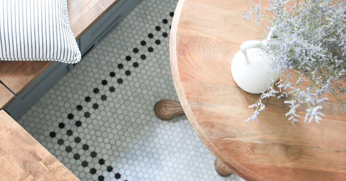 Diy Vintage Inspired Hex Tile Floor