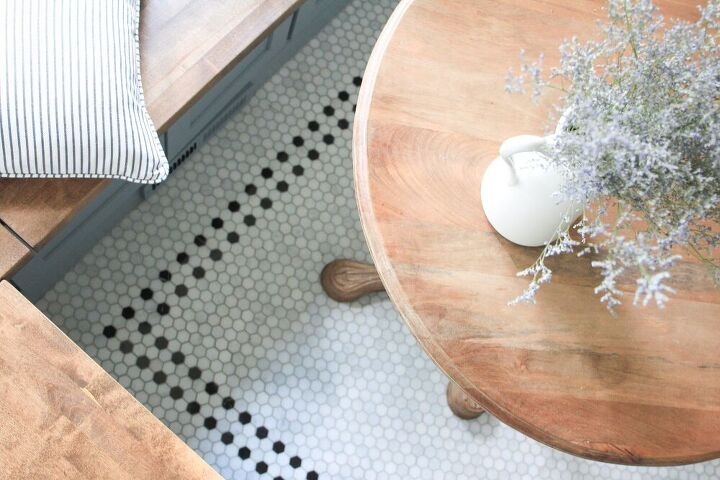 diy vintage inspired hex tile floor part 1