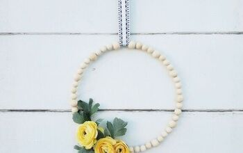 Wooden Bead Wreath for Under $5
