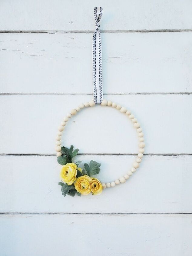 wooden bead wreath for under 5