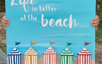 Scrap Wood Beach Art