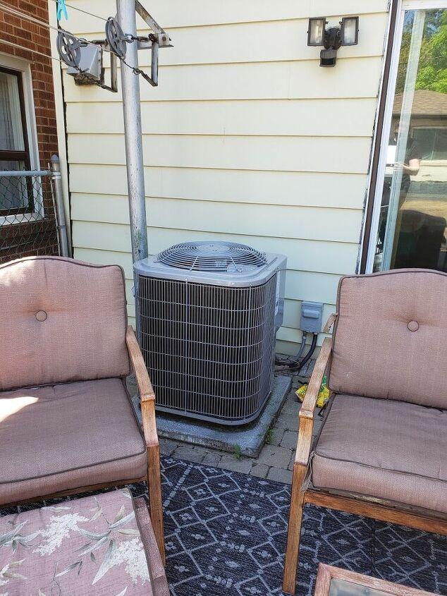 air conditioner chevron cover