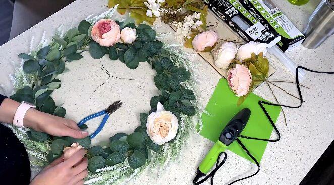 diy easy farmhouse wreath tutorial