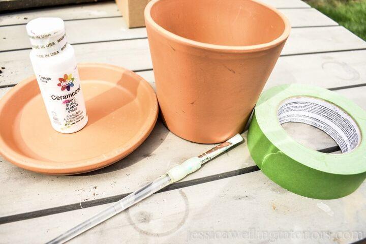 ten minute painted terracotta pots