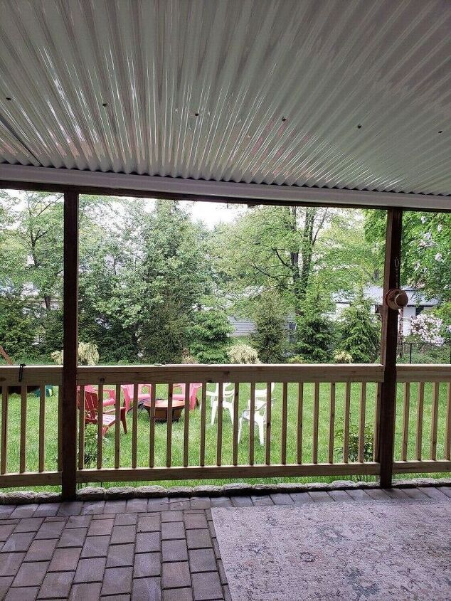 how i turned the space under my deck into a covered patio
